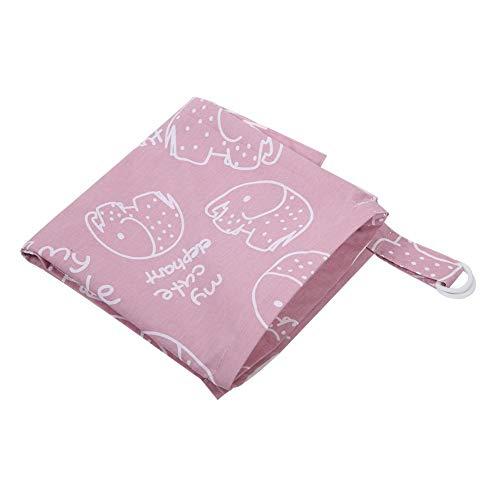 Natürliche Baumwolle Stillen Abdeckung Handtuch Weiche Nahtlose Atmungsaktive Baumwolle Pflege Abdeckung Baby Säuglings Stillen Decke Schal(Pink Elephant) - Damast-baumwolle-abdeckung