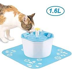 KOOPAO Distributeur de fontaines à Eau pour Chats, filtres de Rechange pour Fontaine Automatique de 1,6 litres