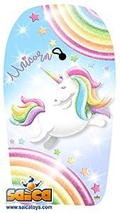 Saica Unicornio. Body Board Grande. Tabla de Sur para Playa y Piscina, Multicolor (9665)