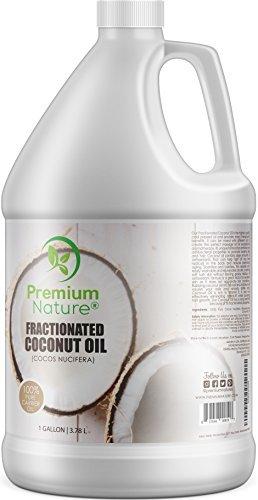 Premium Nature Fractionné Huile De Coco Pure, Taille De Valeur De 1 Gallon, Hydratant Pour La Peau, Thérapeutique, Inodore Clair