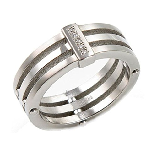 Boccia Damen-Ring Titan 5 Brillianten 0,025 Gr.55 0126-0155
