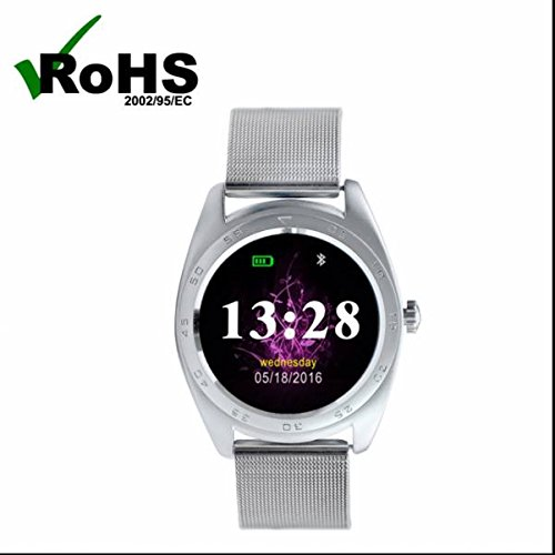 Smart watch Intelligente Uhr Bluetooth sport Uhr Watch,täglich wasserdicht,Herzfrequenz-Messgerät,Bequem und praktisch,SMS Facebook Vibration,Fitness Tracker,Kalorienzähler,Sport watch,Schöne Mode,Elegantes aussehen für iPhone Samsung Smartphone