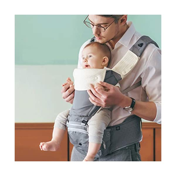 """Front Carriers Baby Sling Waist Stool Multi-Function Four Seasons Universal Seat Baby Sling Front Front Holding Baby Artifact Infant Products Love lamp -front carriers 【Shoulder & Back-Friendly】Extra padded shoulder straps supportive waist belt evenly distributes the weight of the child adjustable straps create a comfortable fit for Moms and Dads of all body types ❤This product is a baby multi-purpose strap waist stool, four seasons universal baby seat stool. ❤This product adopts high-energy """"black technology"""" and innovative 3D memory cotton stool. 3"""