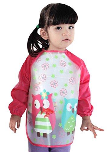 Happy Cherry-Bavaglini a maniche lunghe per bambino, impermeabile, grembiule di alimentazione-Grembiule camicetta di vernice impermeabile, vari modelli