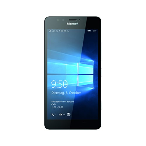 Microsoft Lumia 950 Dual-SIM Smartphone (5,2 Zoll (13,2 cm) Touch-Display, 32 GB Speicher, Windows 10) schwarz