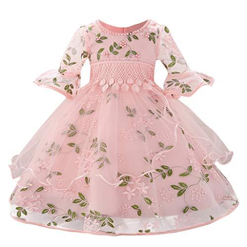 YULAND Baby Kleinkindprinzessin Kleid Mädchen, Floral Baby Prinzessin Brautjungfer Pageant Kleid Geburtstag Party ()