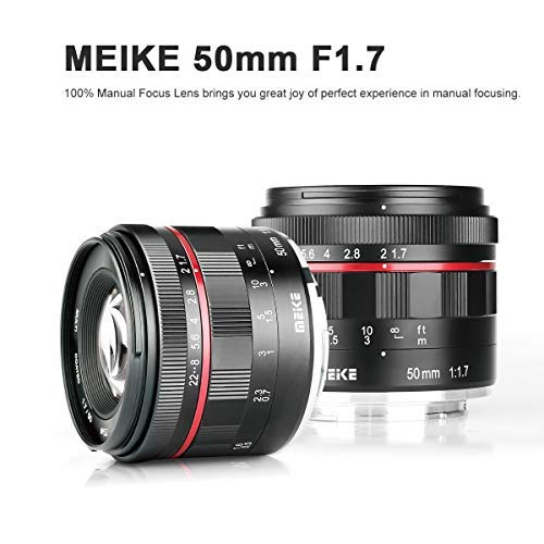 MEIKE MK-50MM F/1.7 Prime Lens Compatible with Sony Full Frame Camera such as A7II A9 (E-Mount)