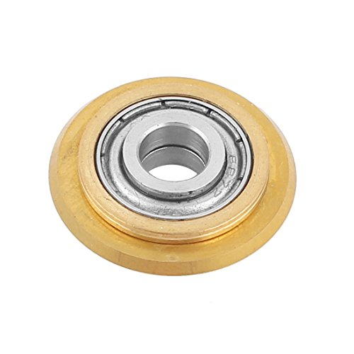 ACAMPTAR Titanium-Beschichtung Hartmetall Keramik Fliese Schneidrad Ersatz 22x6x6mm Messing Ton
