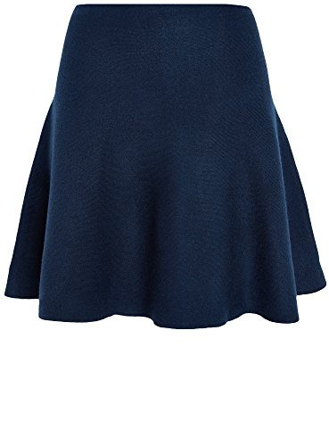 oodji Ultra Donna Gonna Svasata in Maglia, Blu, IT 38 / EU 34 / XXS