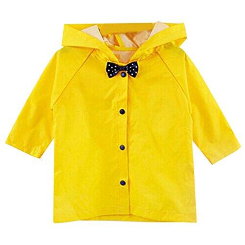 hibote Princess Bow Children Poncho Thick Nylon Kids Raincoat