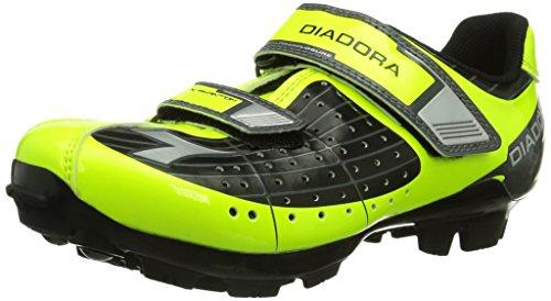 Diadora X Phantom JR, Scarpe da Ciclismo Unisex-Bambino, Giallo (Schwarz/Gelb Fluo/Weiß 3444), 34 EU