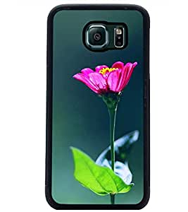 PrintDhaba Flowers D-2443 Back Case Cover for SAMSUNG GALAXY S6 EDGE (Multi-Coloured)