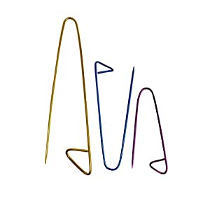 Set 3 Aluminium Knitting Needle Stitch Holders By Curtzy TM