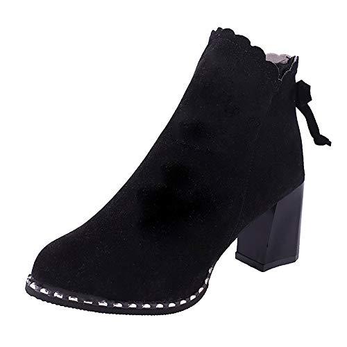 Bottes de Neige,Subfamily Bottines en Daim Chaussures Boot Vintage Bottes à Talons Hauts épais Heel Bottines Bottines Chaussures Chaussures de Ville Bottes Chelsea