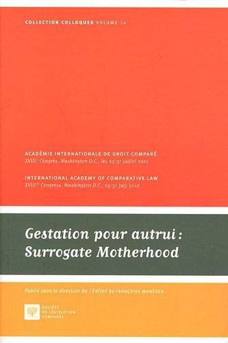 Gestation pour autrui : Surrogate Motherhood par Françoise Monéger
