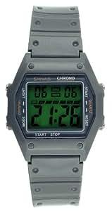 Shivas - D52811-017 - Montre Mixte - Quartz Digital - Cadran Vert - Bracelet Plastique Gris