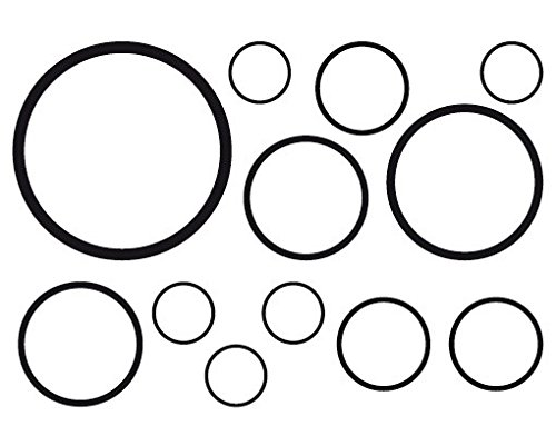 Fenstersticker No. 1180Kreise III 12S Set-Glas Fenster Film selbstklebend | Milchglas Film 5Farben Fenster Folie selbstklebend Sichtschutz Milchglas Badezimmer Farbe: frosted, Maße: 52cm x 75cm - Frosted Bad Set