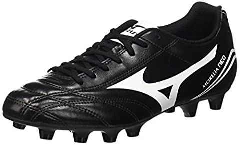 Mizuno MORELIA NEO CL MD - Chaussures de Football - shoes - homme - Nero (Black/White) - 42 (Taille fabricant: 8)