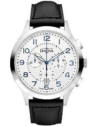 Davosa Herren-Armbanduhr Metropolitan Analog Leder Schwarz 16243416