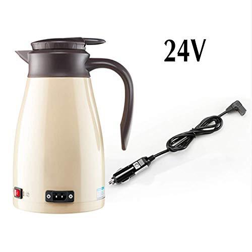 RUIX Auto Wasserkocher,Auto Elektrische Tasse/Wasserkocher / Wasserkocher/Für 24V LKW,Beige