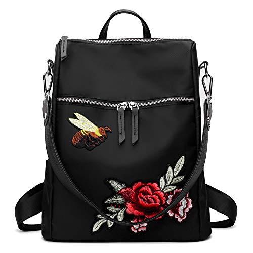 Lussebaby Schüler Schultasche Wasserdichte Nylon Handtaschen Wilde Stickerei Chinesischen Stil Schulter Schulter Tragbare Mehrzweck Rucksack -