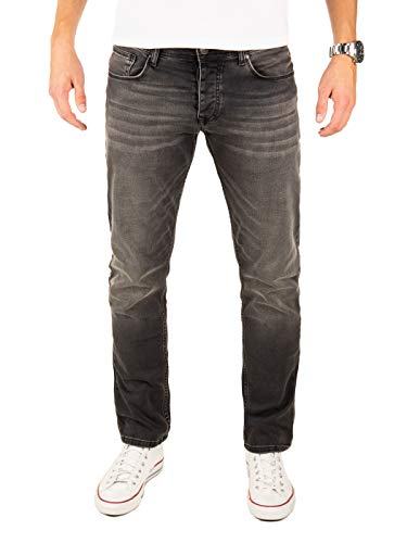 Yazubi Jeans Herren Edvin Slim - Jeans Hosen für Männer - Schwarze Vintage Denim Stretch Hose Jeanshose Regular, Grau (Phantom 194205), W34/L32