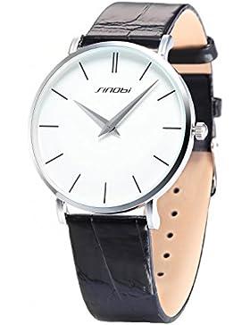 SINOBI Fashion Elegant Armbanduhr Herrenuhr Damenuhr Quarzuhr Jungen Uhr SNB011