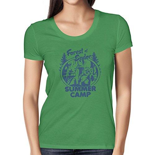 NERDO - Forest of Endor Summer Camp - Damen T-Shirt Grün