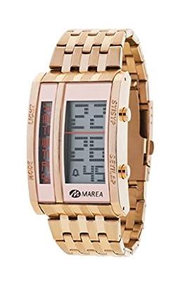 Ref. B35253/3 Reloj Marea Caballero, digital, crono, alarma, luz, caja y brazalete de acero rosé, sumergible 50 metros, garantía 2 años.