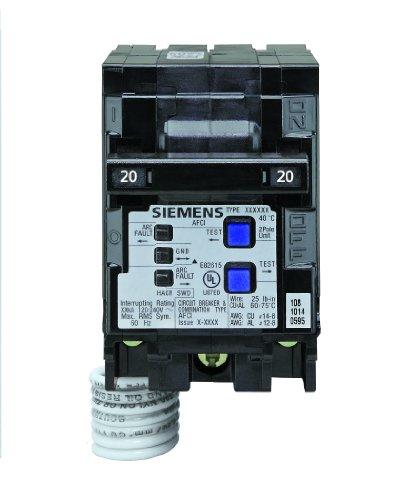 Siemens q220afc q220afc 20-amp 2Pole 120-volt Kombination Typ Arc Fault Circuit 13479 (Fault Arc Siemens)