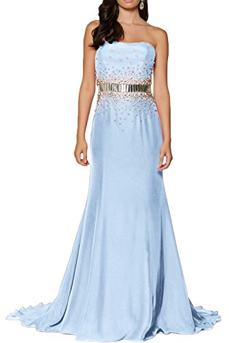 Promgirl House - Robe - Taille empire - Femme bleu clair