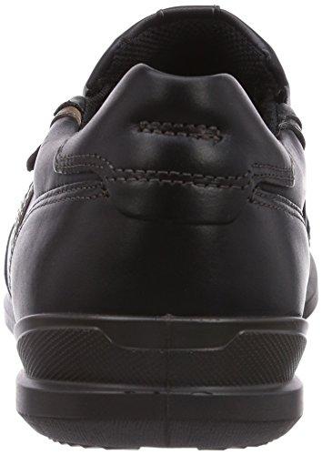ECCO Chander, Sneaker a Collo Basso Uomo Nero (Schwarz (Black/Black/Dark.Sha/Coffee58906))