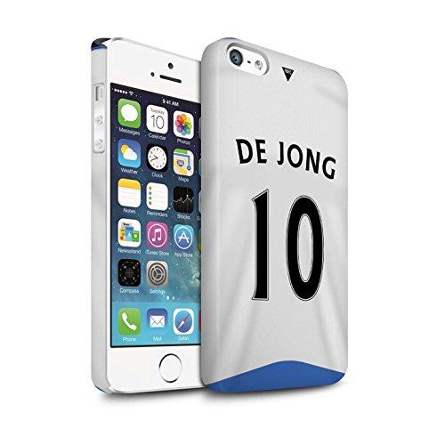 Offiziell Newcastle United FC Hülle / Matte Snap-On Case für Apple iPhone SE / Pack 29pcs Muster / NUFC Trikot Home 15/16 Kollektion De Jong