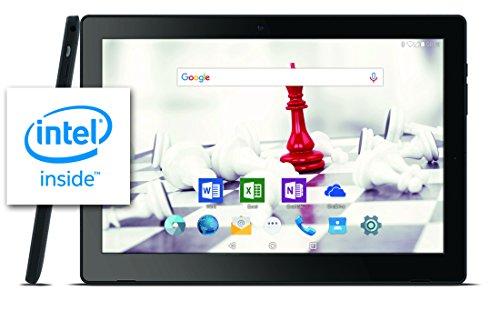 Odys Gambit 10 plus 3G 25,7 cm (10,1 Zoll HD IPS) Tablet-PC (Intel Atom Quadcore Prozessor x3-C3235RK, 1GB RAM, 16GB HDD, 3G für Daten und Telefonie, GPS, Android 6.0) schwarz (Hd Tablet 3g)