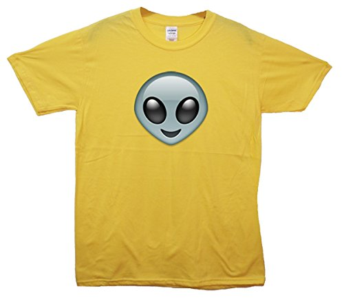 Alien Emoji T-Shirt Gelb