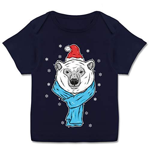Tiermotive Baby - Eisbär mit Mütze und Schal - 80-86 (18 Monate) - Navy Blau -...
