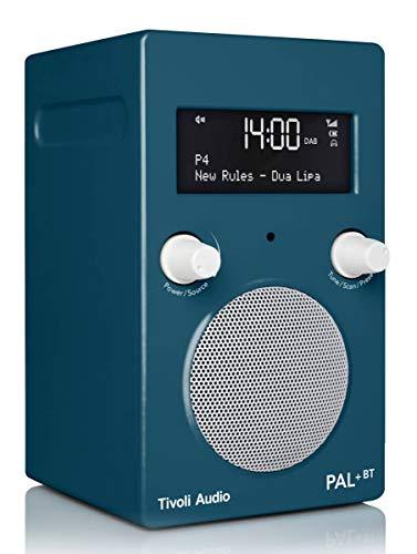 Tivoli Audio Pal+ BT Fashion FM/DAB+ tragbares Radio mit Bluetooth und Integriertem Akkupack (Deep Ocean Teal (Blau))