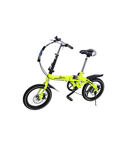 Riscko Bicicleta Plegable Super Bike Bep-32 Amarillo