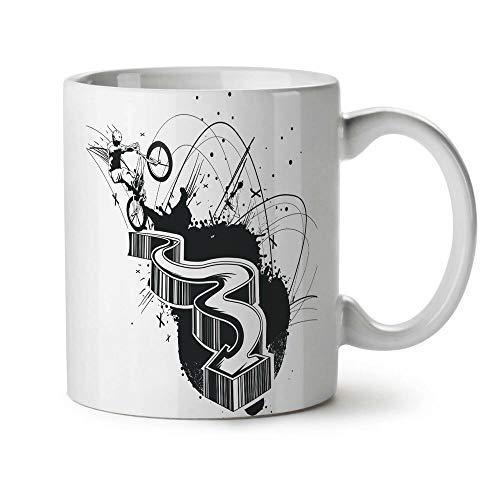 Epic BMX Stunt Man NEW White Tea Coffee Mug 11 oz | Wellcoda
