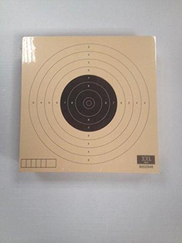 Verp. einheit 100 Stück - LP Scheibe Luftpistole 10 m.- format 14-14 cm. Hergestellt aus Karton Qualität Papier Col 200 grs, creme - Anti-Reflex -