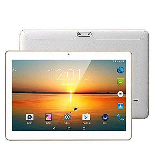 "10.1"" Android Tablet, 3G Dual Sim Card Slots, Octa-Core Processor, 2GB DDR3, 32GB Storage ,Support Netflix Youtube GPS (White)"