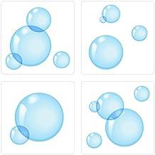 PLAGE 260517 Adhesivos de decoración para azulejos Smooth, Burbujas, 4 Hojas, 14,5 x 14,5 cm