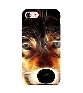 99Sublimation Angry Wolf 3D Hard Polycarbonate Back Case Cover for Apple iPhone 7