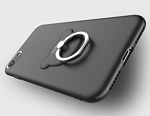 BLUGUL Cover iPhone 8 Plus /Cover iPhone 7 Plus, Pellicola Protettiva, Cordoncino, 3IN1 Custodia Ultra Sottile Opaco Supporto dellanello, Custodie per iPhone 8/7 Plus Rosso Blu