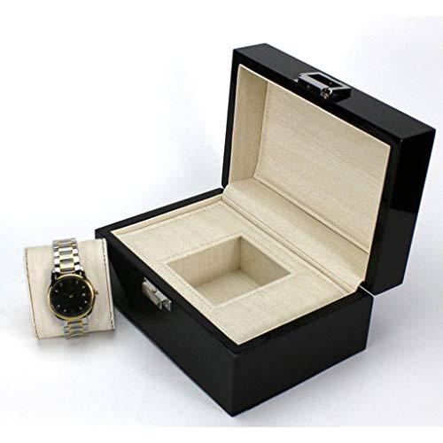 Uhren Herren Uhrenbox Damen Uhrenkoffer Aufbewahrungsbox, Schwarz, Mit Schlüssel ()