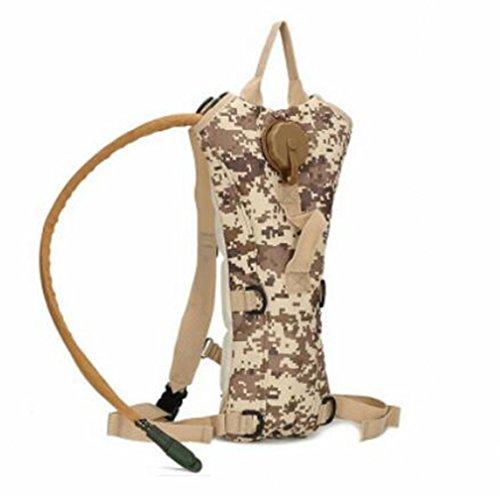 GOUQIN Outdoor Rucksack Klassische Mode 3 L Wasser Ergänzen Bewegung Tasche Auf Den Schultern Des Wasser Beutel Camping Wasser Taschen Berge Wasser Taschen Rucksack 6 Camouflage