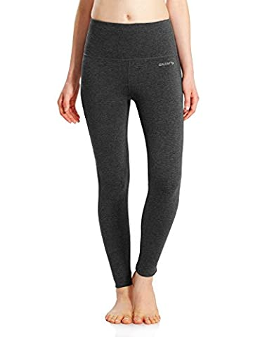 Baleaf Damen Leggings Ladies Yoga Fitness Lange Enge Yogahosen Running Hose Laufhose Jogginghose Strumpfhosen Workout Sport und Training High Waist Holzkohle Größe XL
