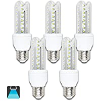Aigostar - Bombilla LED B5 T3 3U, E27, 9 W equivalente a 70 W, 6400K, 720 lúmenes, no regulable - Pack de 5