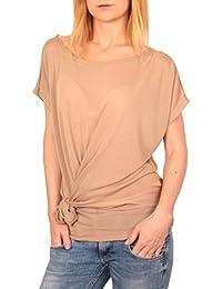 Ella Manue Frauen Wickeloptik Shirt Tee Jolene
