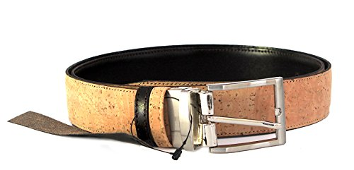 kORK GÜRTEL Reversible Eco-Friendly by Dux Cork - 2 in 1 GENUINE PORTUGUESE PREMIUM Cork Fabric & Genuine Leather 100% GUARANTEE (Cross-body-klappe)